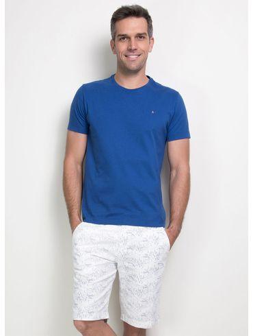 Camiseta-Basica-Careca-Cotton-Bordado---Azul-Forte