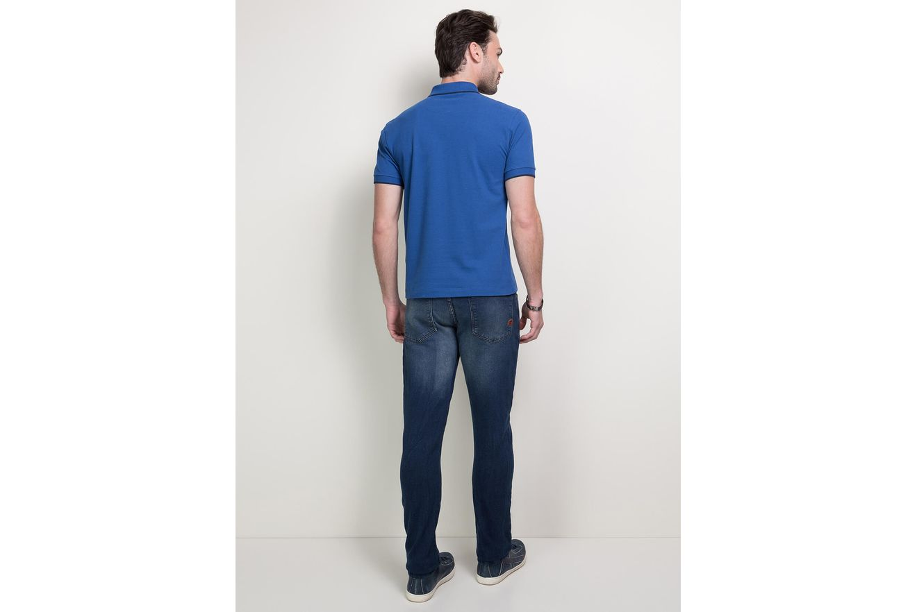 Polo-Basica-com-Ziper-Bordada---Azul-Forte