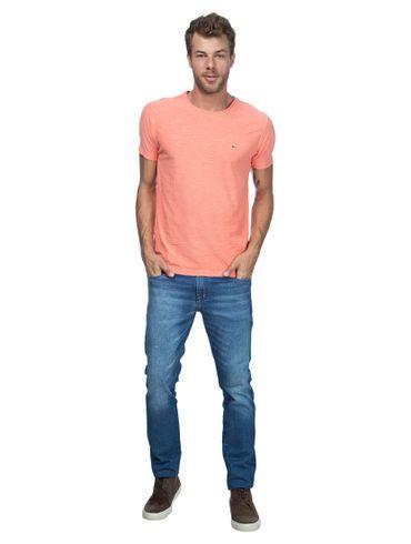 Camiseta-Decote-Careca-Basica---Laranja-Claro