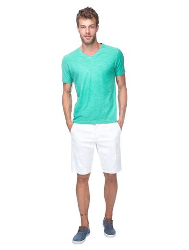 Camiseta-Decote-V-Basica---Verde-Medio
