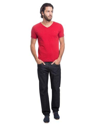 Camiseta-Decote-V-Flame-Bordado---Vermelho-Escuro