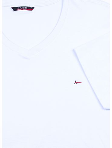 Camiseta-Listras-Decote-V-Basica---Branco
