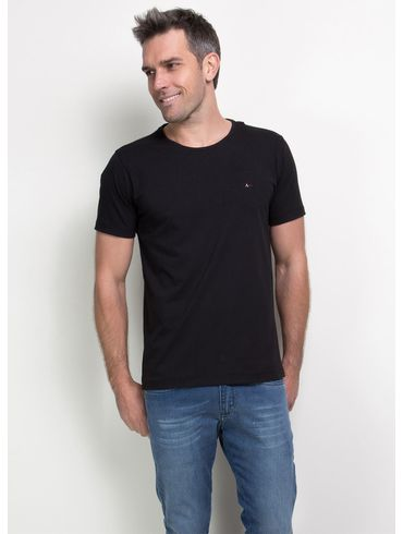 Camiseta-Basica-Careca-Cotton-Bordado---Preto