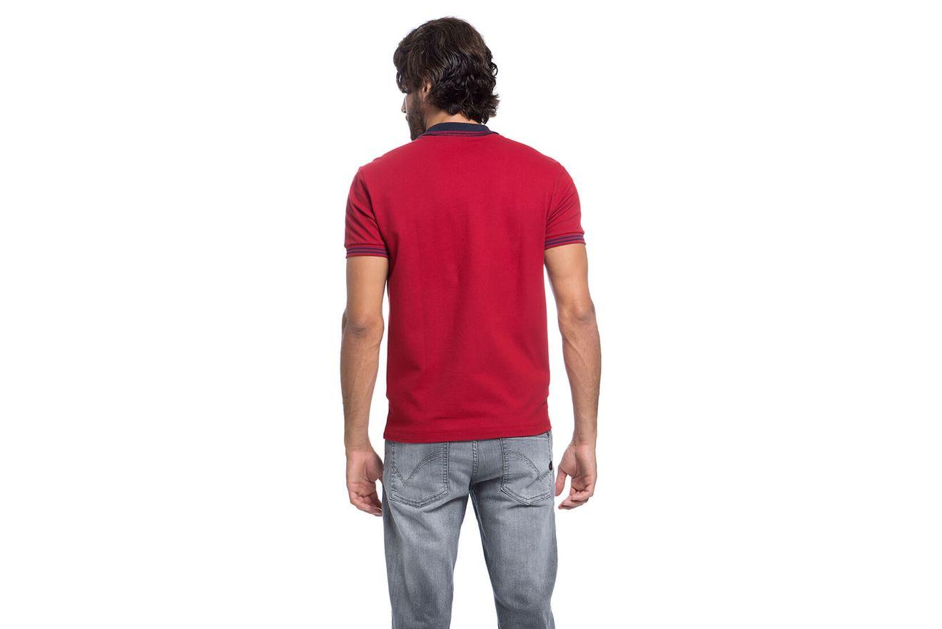 Polo-Basica-Bordada---Vermelho-Escuro