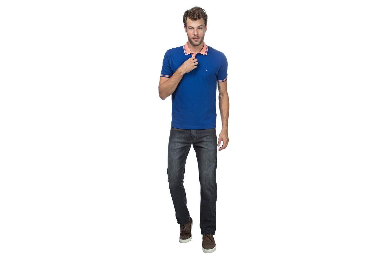 Polo-Basica-Bordada---Azul-Bic