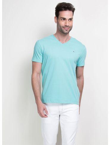 Camiseta-Listras-Decote-V-Basica---Azul-Piscina
