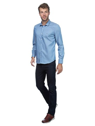 Camisa-Jeanswear-Slim-Ponta-Gola---Azul