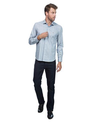 Camisa-Menswear-Slim-Quadrado-Tri---Azul