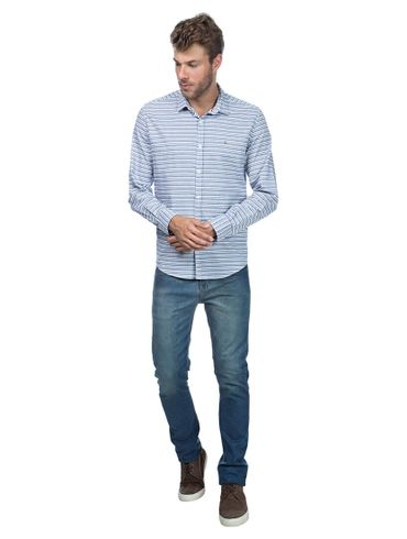 Camisa-Jeanswear-Slim-Vivo-Caseado-Carcela---Azul