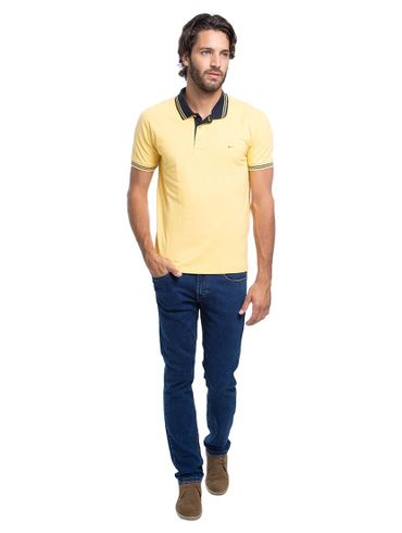 Polo-Basica-Bordada---Amarelo-Medio
