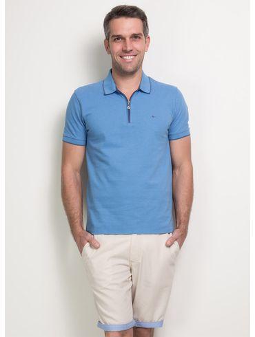 Polo-Basica-com-Ziper-Bordada---Azul-Medio