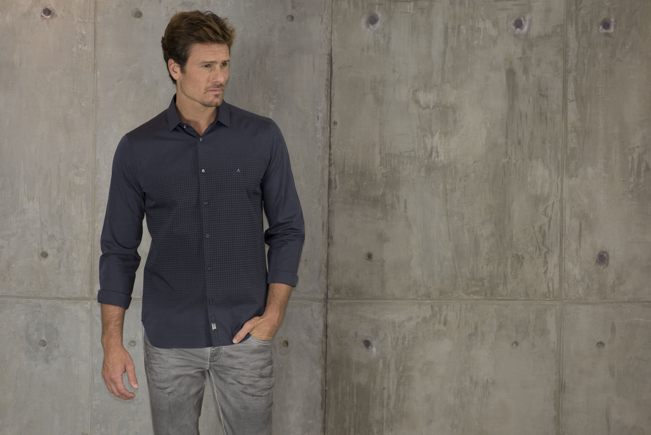 Camisa-Slim-Night-Estampa-Pied-Poule---Chumbo7891236222778_01_mobile_fr