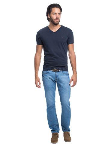 Camiseta-Decote-V-Flame-Bordado---Marinho