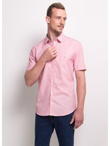 Camisa-Slim-Menswear-Barra-Redonda-Prega-Costas---Vermelho