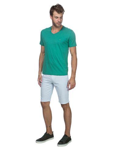 Camiseta-Listras-Decote-V-Basica---Verde-Medio