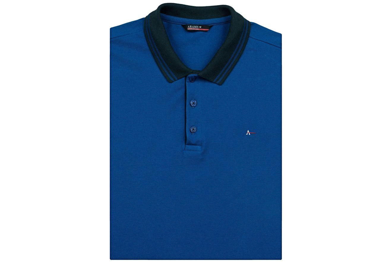 Polo-Basica-Bordada---Azul-Forte