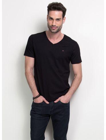 Camiseta-Listras-Decote-V-Basica---Preto