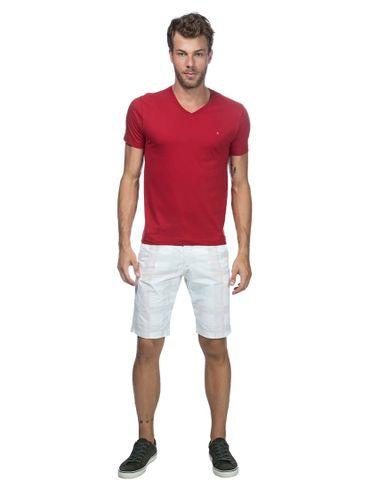 Camiseta-Listras-Decote-V-Basica---Vermelho-Escuro