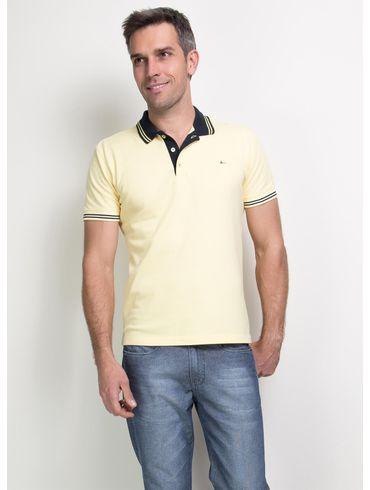 Polo-Basica-Bordada---Amarelo-Claro