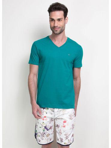Camiseta-Listras-Decote-V-Basica---Verde-Escuro