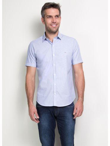 Camisa-Slim-Menswear-Barra-Redonda-Prega-Costas---Azul-Bic