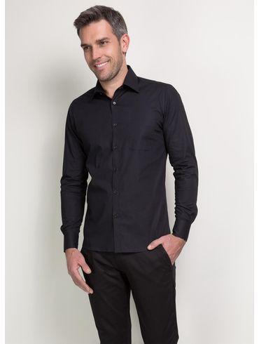 Camisa-Social-Super-Slim-Colarinho-Tradicional---Preto