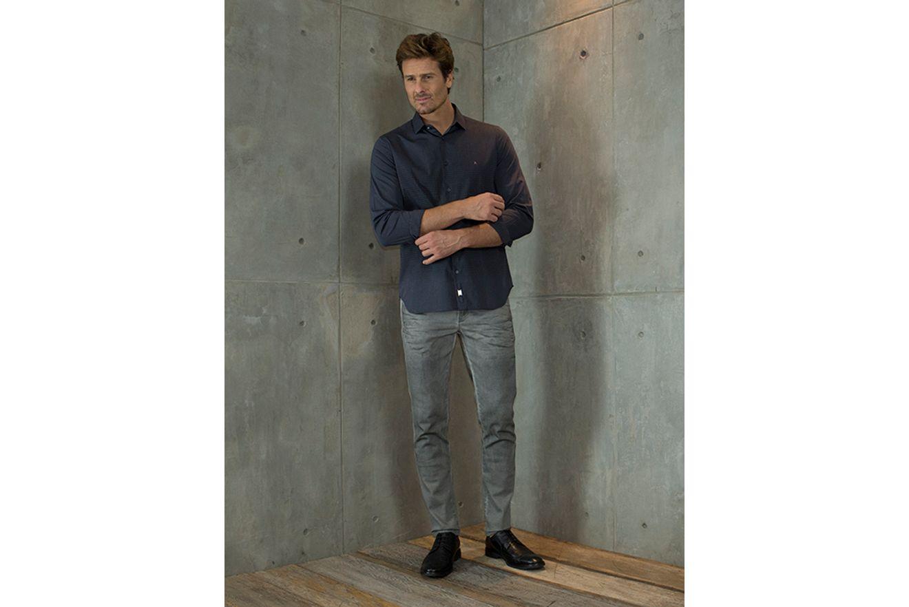 Camisa-Slim-Night-Estampa-Pied-Poule---Chumbo7891236222778_01_mobile_fr