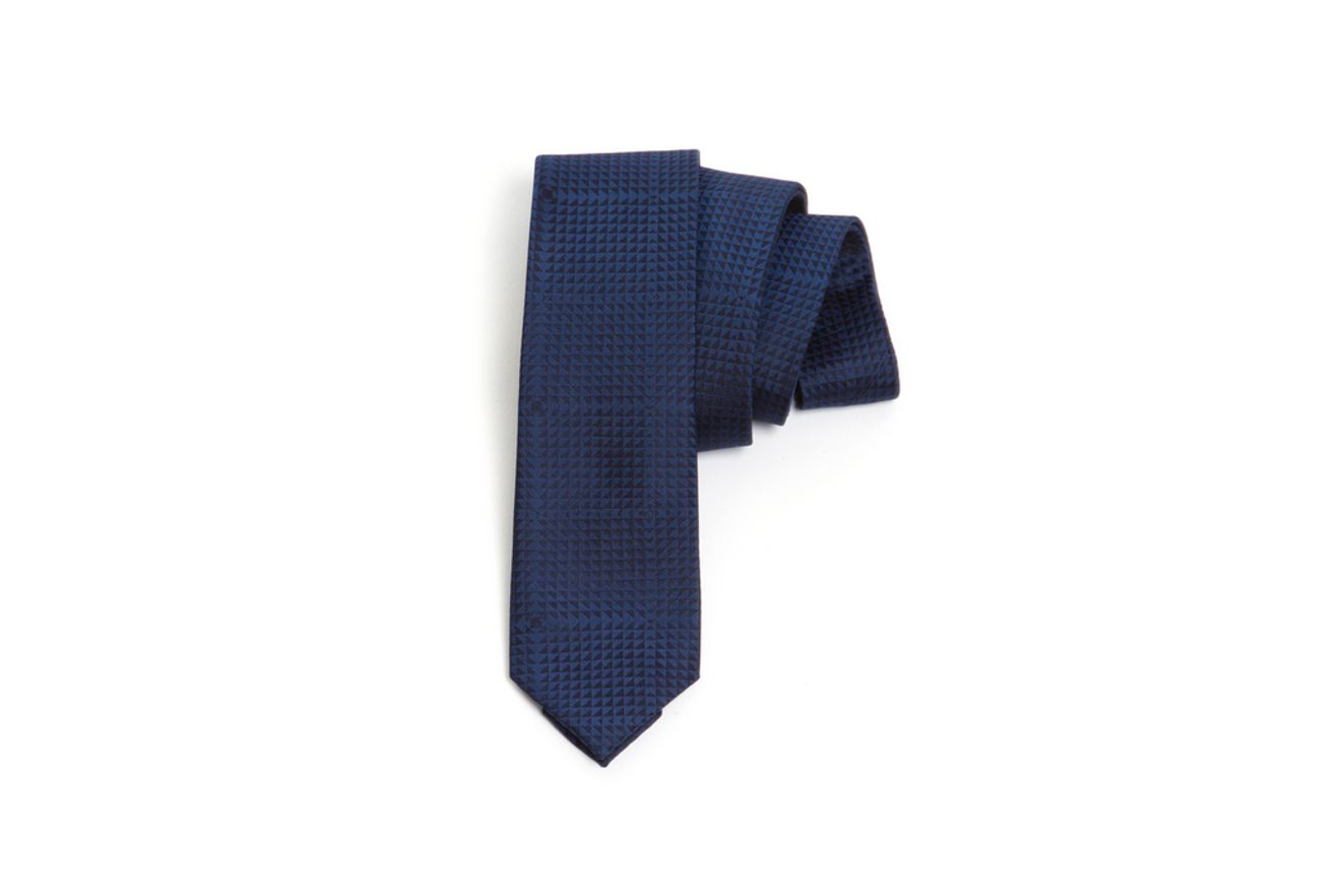 Gravata-Seda-Jacquard-75---Azul