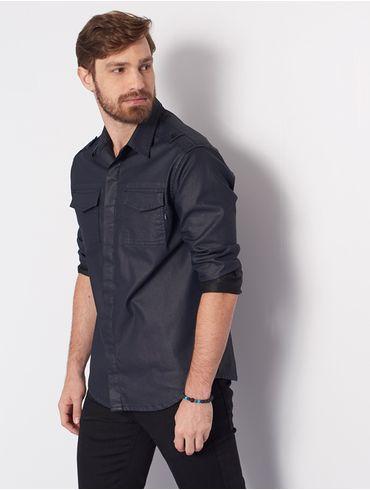8bf19004a1383 Camisa Overshirt Resinada