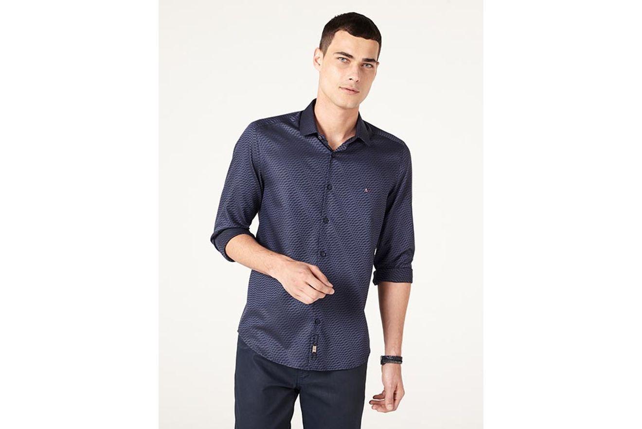 Camisa-Night-Super-Slim-Mosaico-Fio-60 xml b1d4efd417d41
