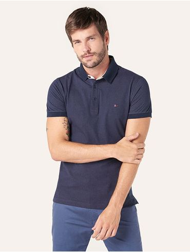 63dc61115d Encontre Camisa com bolso lisa gola polo azul