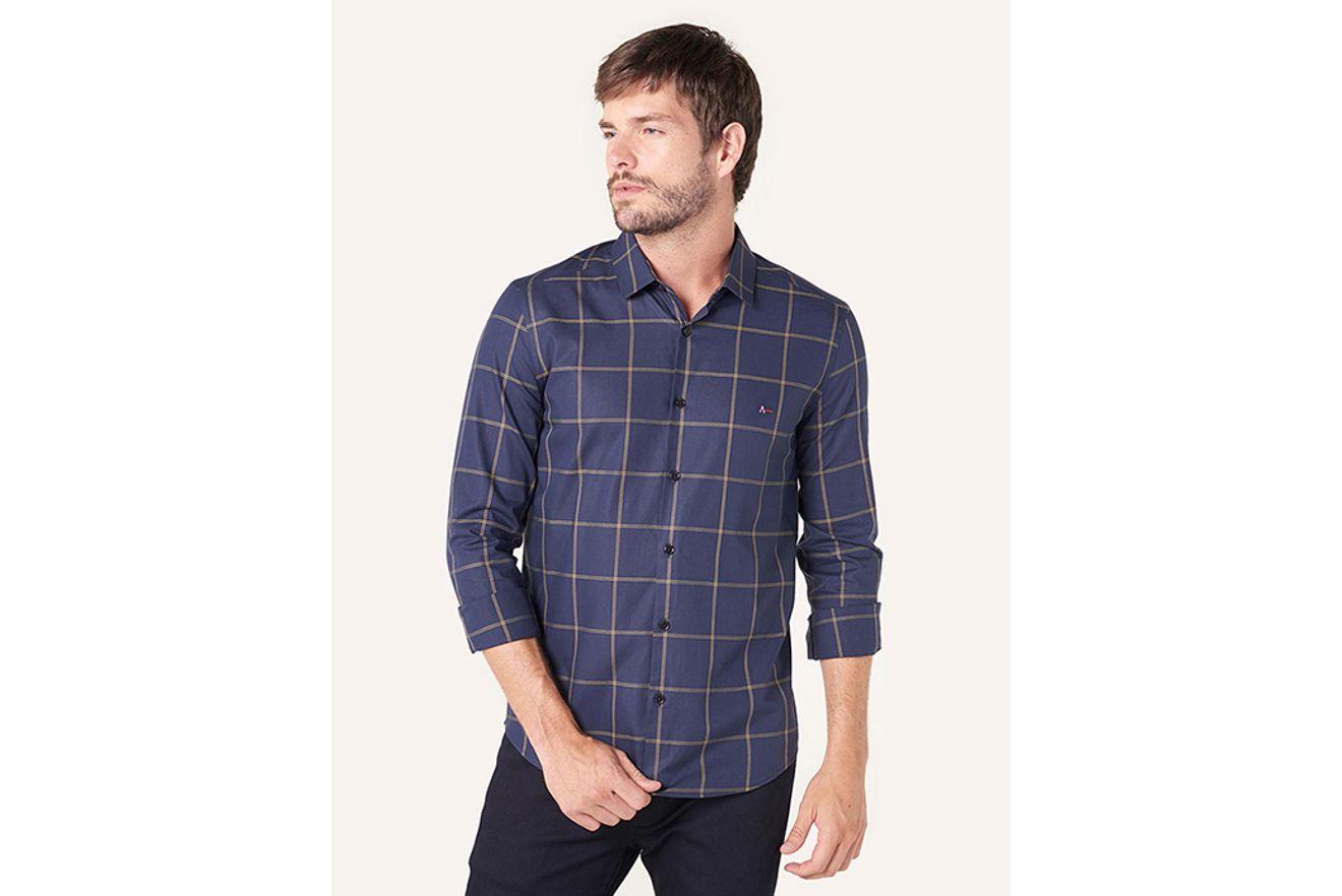 Camisa Super Slim Menswear Xadrez