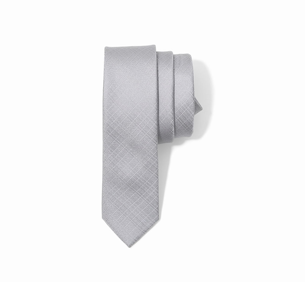 Gravata Standart Mini Xadrez - Seda